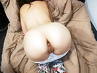Big Ass Asian Girlfriend Buttplugged and Buttfucked